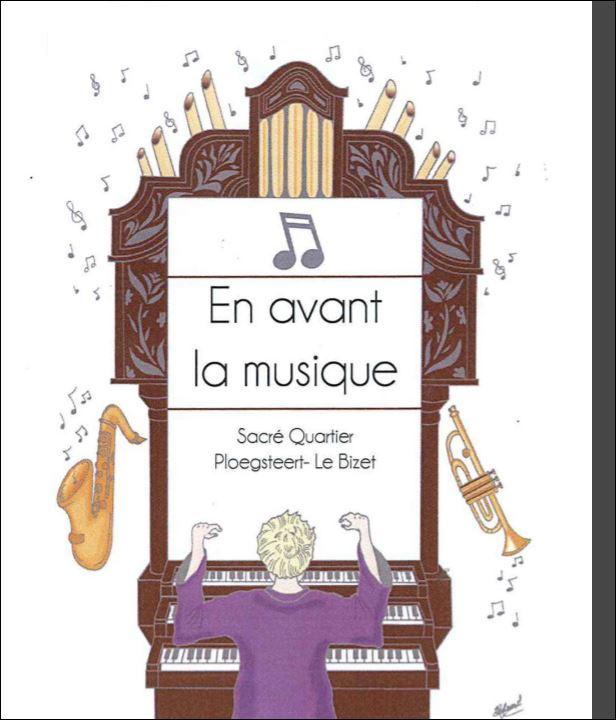 Ploegsteert exposition en avant la musique au Home le Sacré Cœur.