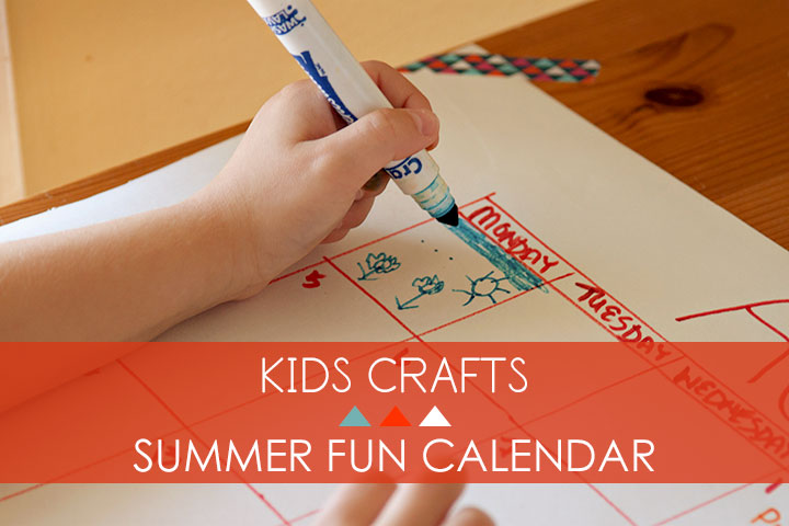 Kids Crafts - Summer Fun Calendar // VeryShannon.com