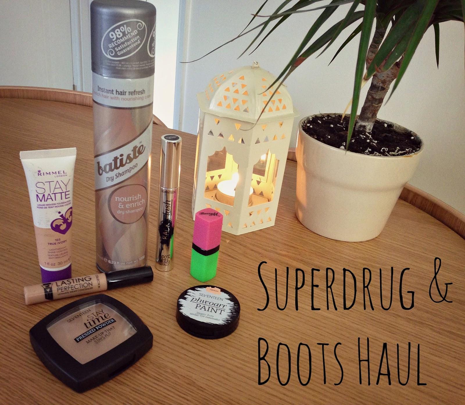 superdrug boots haul