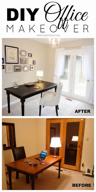 DIY budget office makeover for just $300! So many great ideas in this post about how to make your money go farther when decorating!