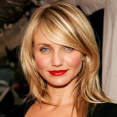 brown medium length hairstyles with bangs}