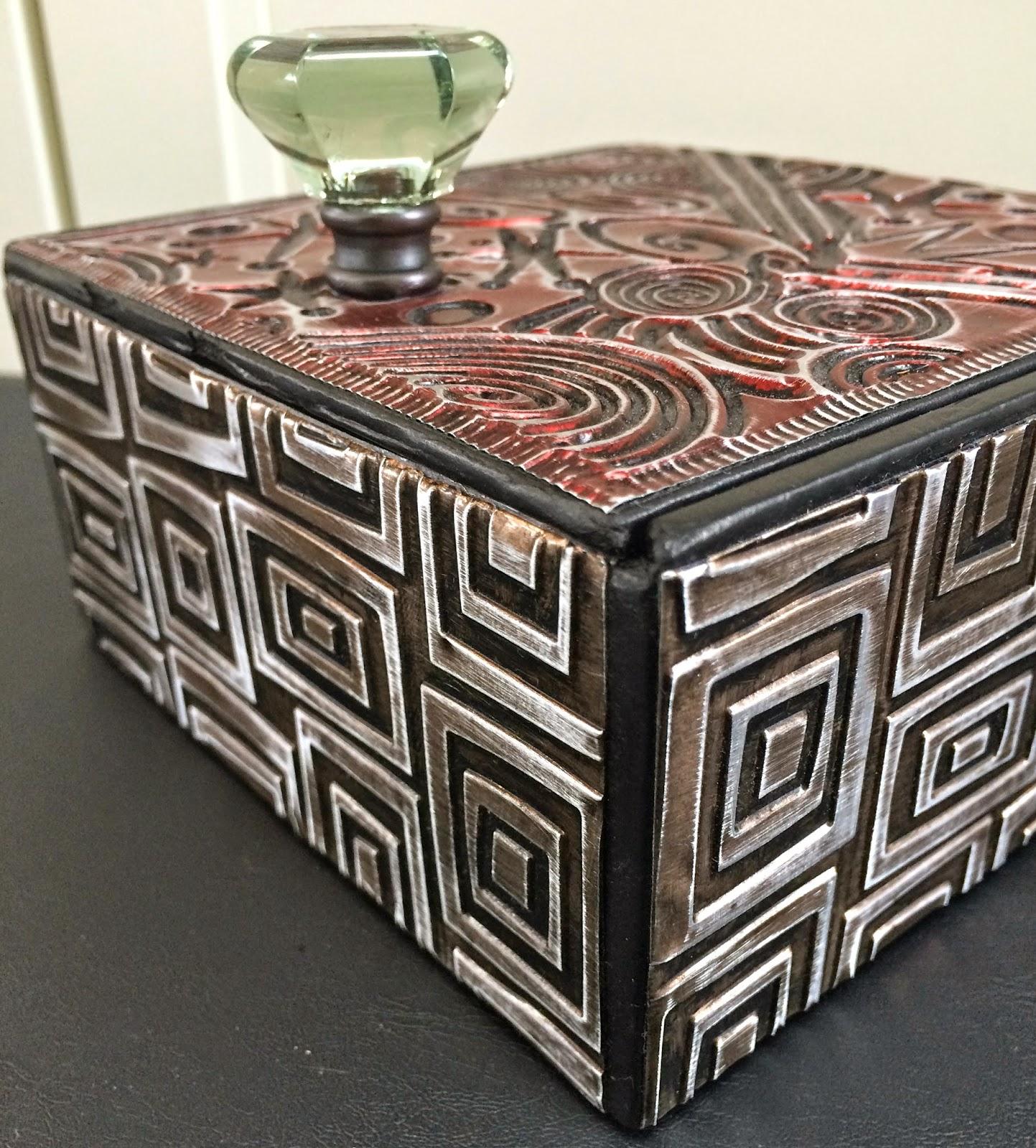 ellen vargo designs Embossed Metal Altered Cigar Box