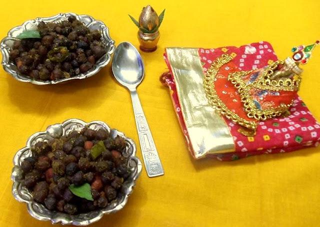 Sukha Kala Chana / Black Chickpeas stir fry