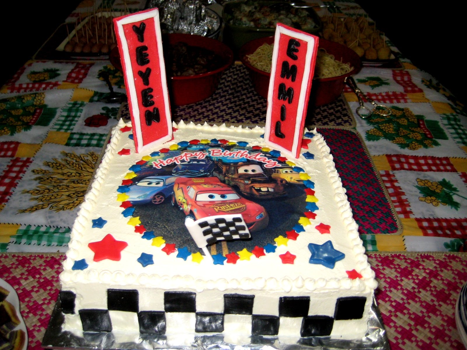 Disney Cars Birthday Cake Chocolatecherrybrownie