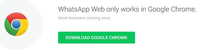 El apaño de Whatsapp solo funciona con el navegador de Google.