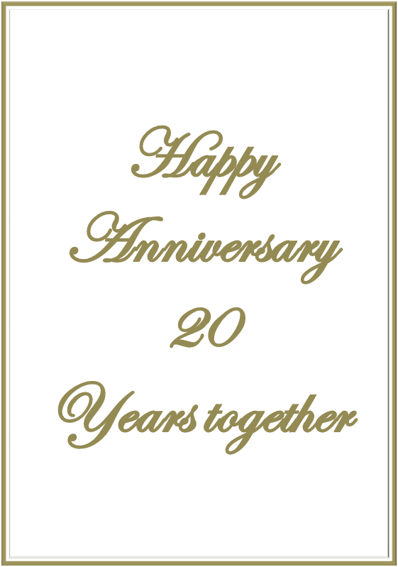 well this is just to say thank you so much and happy 20 year anniversary mark you are truly my rock here is my dedicated song video to you love you much
