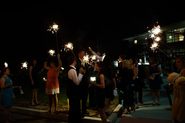 You Can Lead a Horse to Water...  :  wedding chicago recap Sparkler2