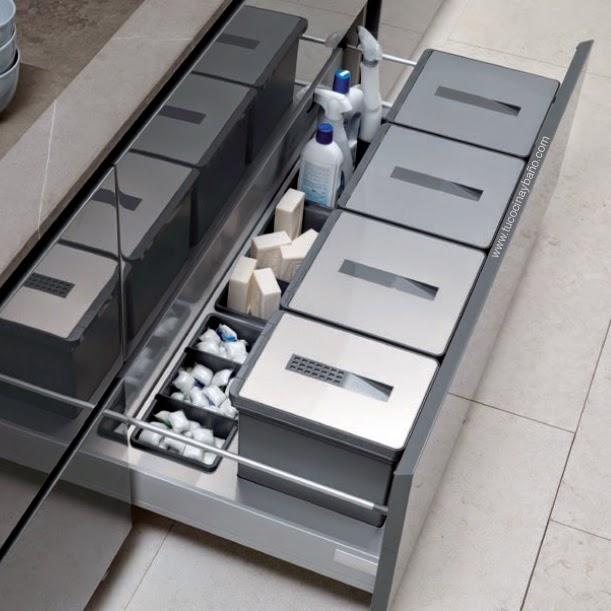 Kits de cubos de basura para cocina tu cocina y ba o - Interiores de cajones de cocina ...
