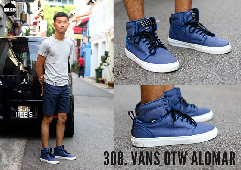 vans shoes wearing