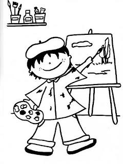 riscos para pintura de meninas e meninos