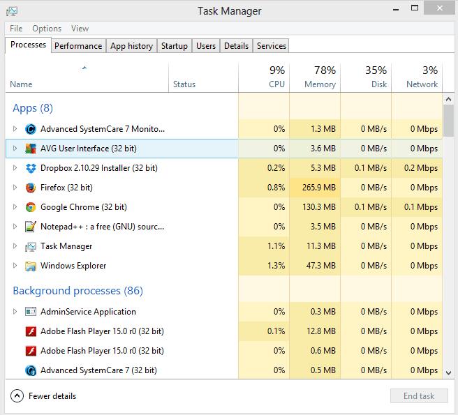 Sửa lỗi CPU và Disk chạy 99 100% trên Windows 7 | 8