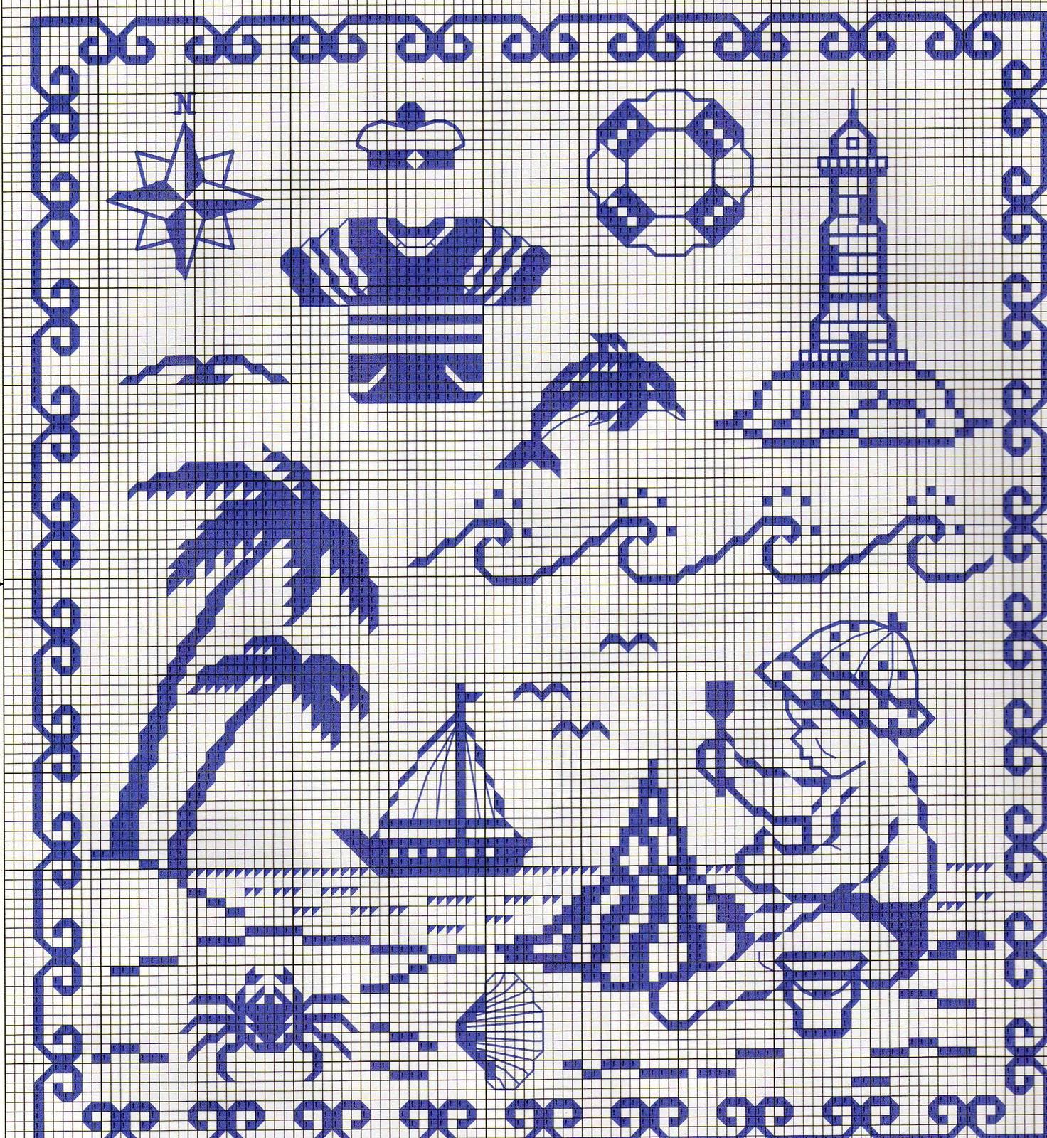 Схема для вышивке крестом anchor