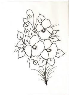 desenhos e riscos de buque de flores