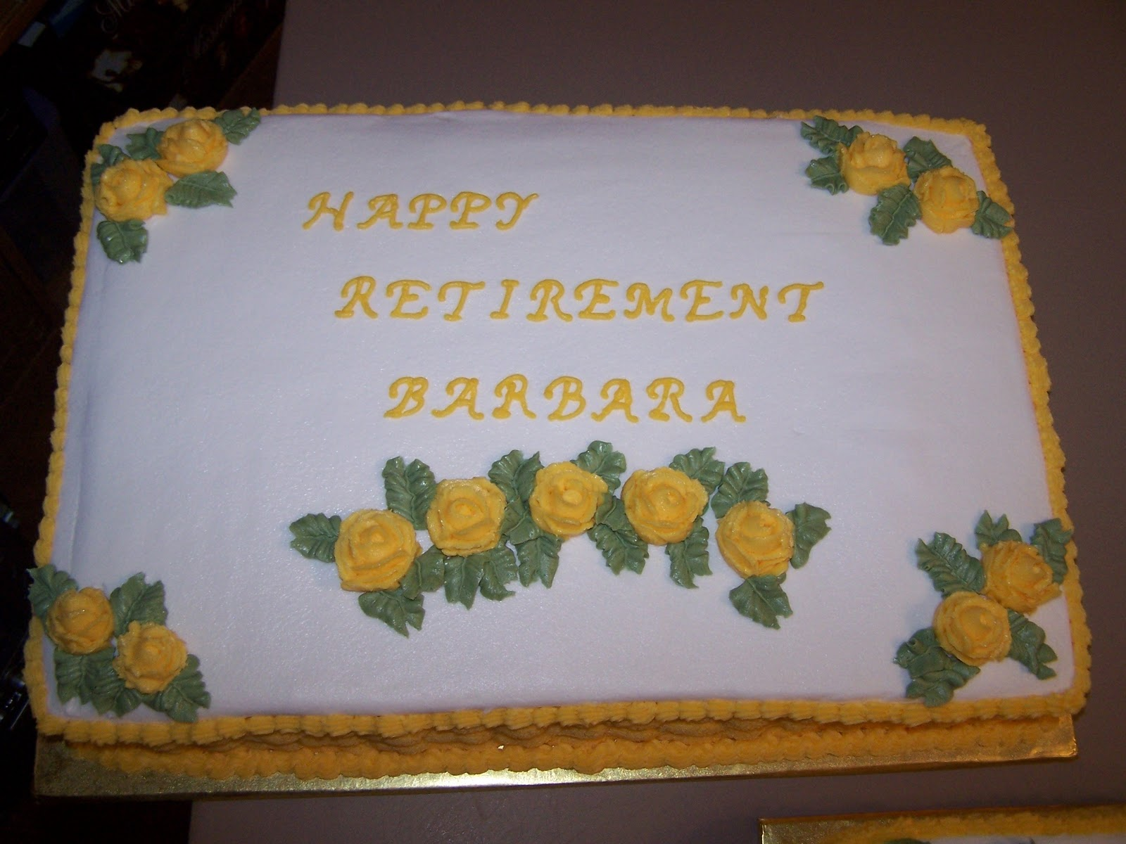 Cake Decorating Ideas Retirement