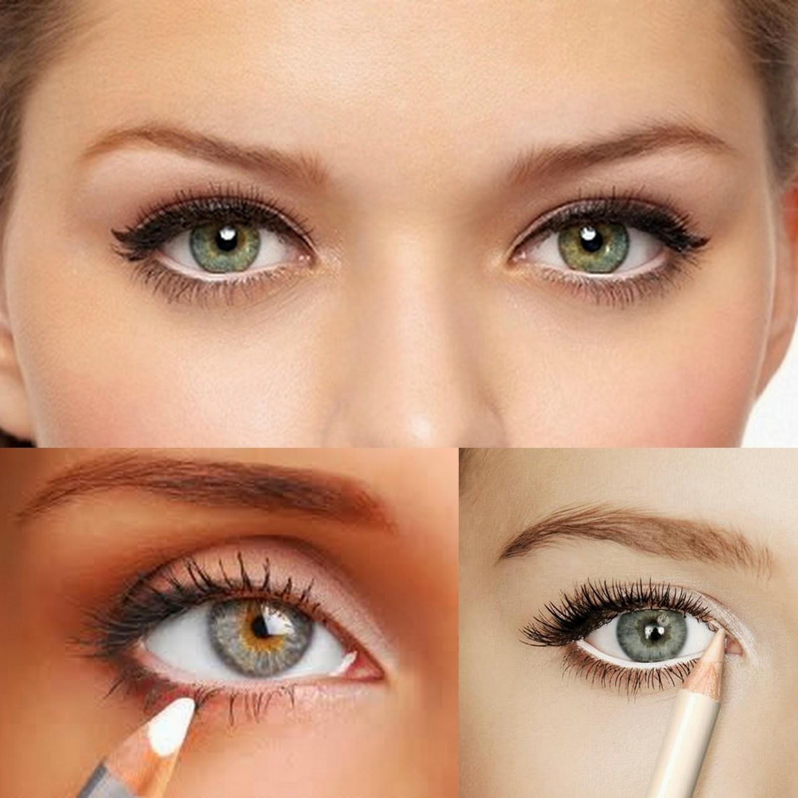 Сделать макияж на большие глаза