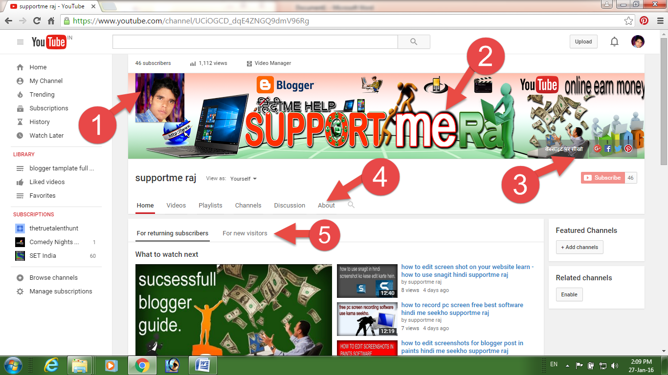 You tube channel design full guide. ~ SUPPORT ME RAJ-Professnal ...