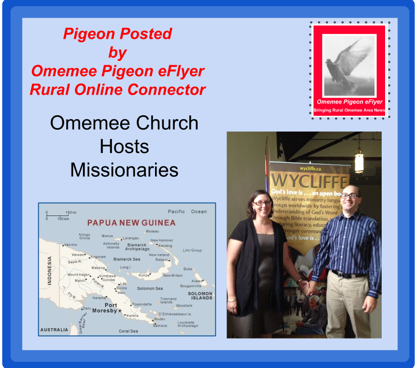 Omemee hosts missionaries to Papua New Ginea