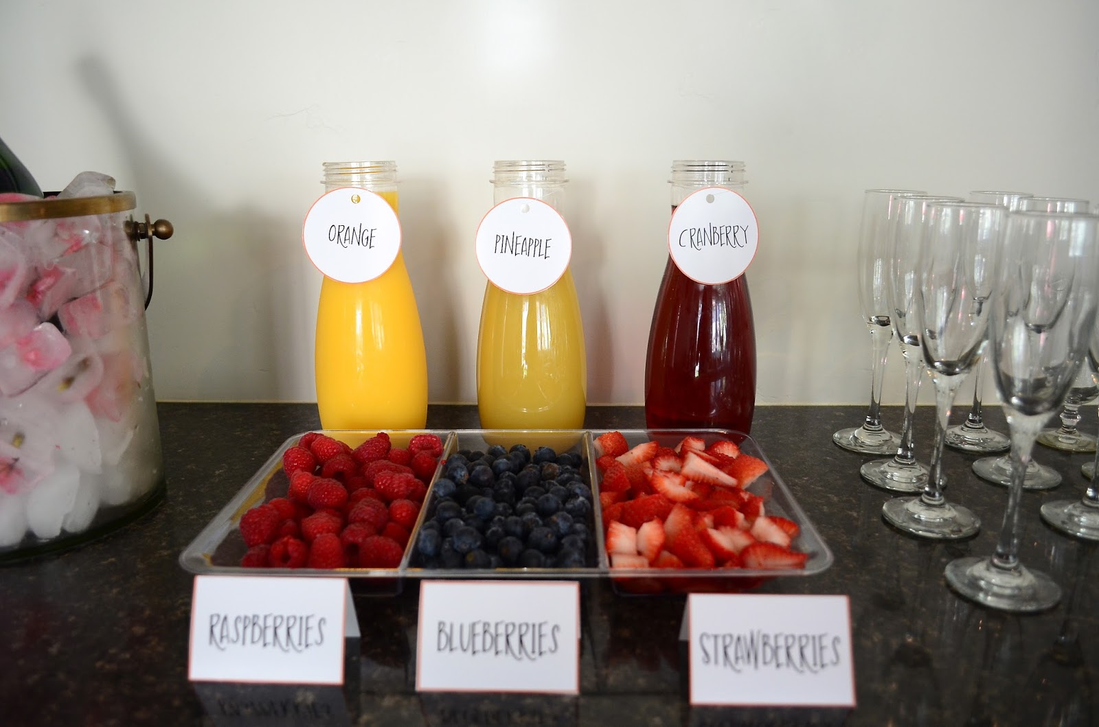 Adorn Event Styling: Baby Shower Brunch & Mimosa Bar