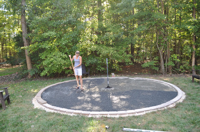 Fabulous by design our diy fire pit for Gravel fire pit area