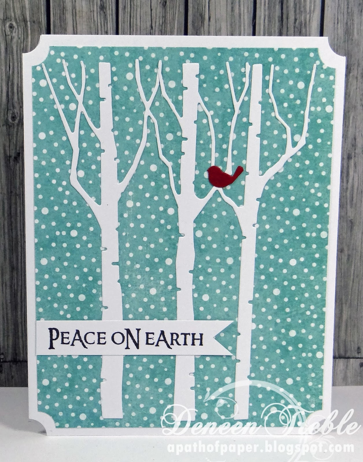 A Path Of Paper Fast Quick Fairly Clean And Simple Christmas Cards