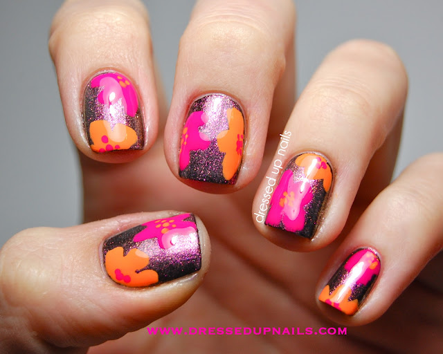 Dressed Up Nails - Models Own floral nail art