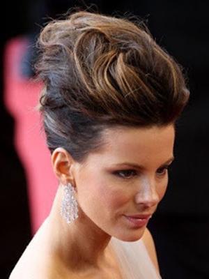 peinados recogidos con ondas sueltas