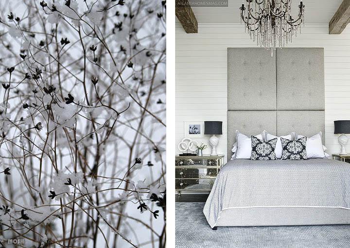 Slaapkamer Zwart Wit Zilver : Canvas Wintertijd via onze webwinkel ...
