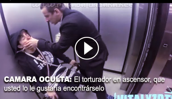 CÁMARA OCULTA: El torturador en ascensor, que usted lo le gustaría encontrárselo