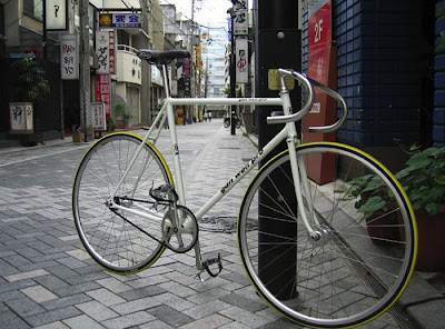Desain Sepeda Fixie Frame Putih