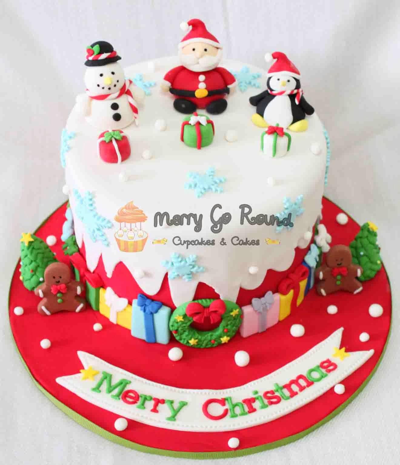 Modern decor home decoration christmas cakes noel for Decoration noel