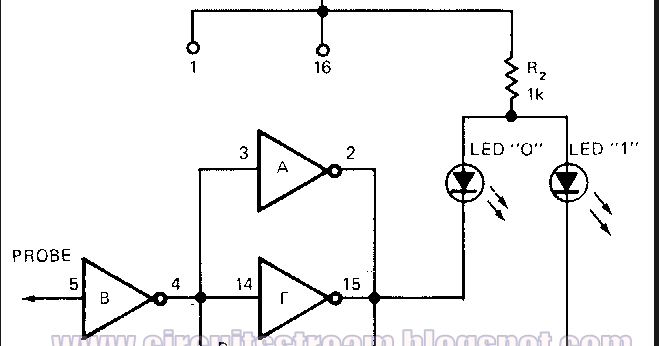 cmos universal logic probe circuit diagram