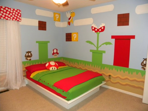This is one of my favourite Super Mario bedroom mural bedrooms that I have  found on the internet  It is bold and colourful without being too fussy and. My Super Mario Boy  2015