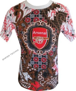 Gambar  Baju Batik Bola Arsenal F.C