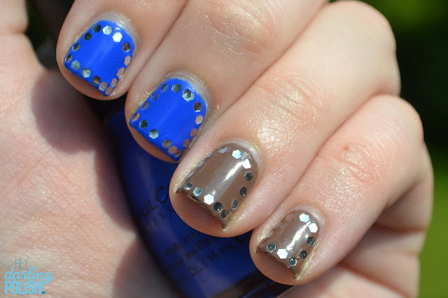 Glequins, Sinful Colors Endless Blue, Sinful Colors Nirvana, Nail Art, Nail Polish
