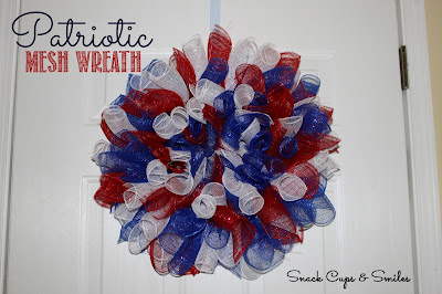 Patriotic Mesh Ribbon Wreath