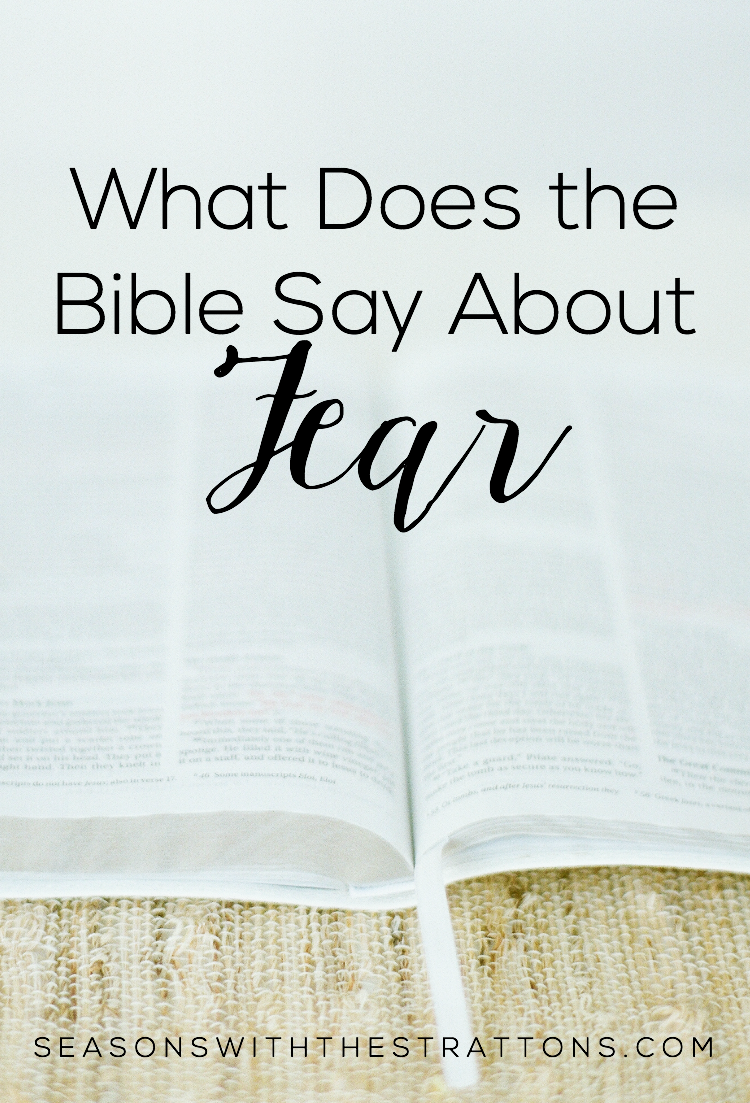 Seasons with the Strattons: What Does the Bible Say About Fear ...