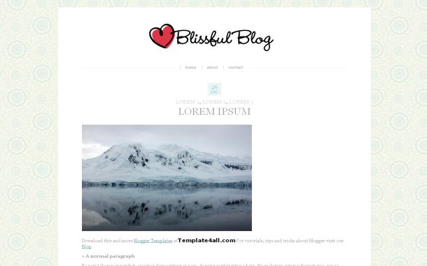 Free Blogger White News Blog Theme Template