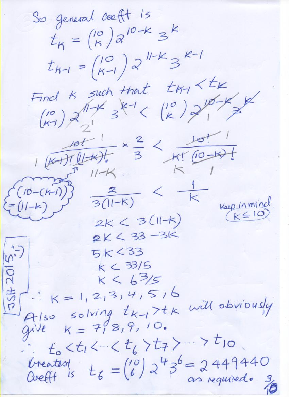 worksheet Binomial Theorem Worksheet svc math 3u blogaroony binomial theorem worksheet mathematics plus 2001 solutions