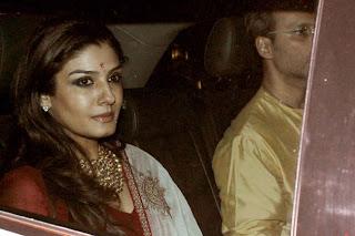 Raveena Tandon  Diwali celebration at Amitabh Bachchan House