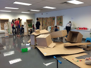 art, boxes, creative play