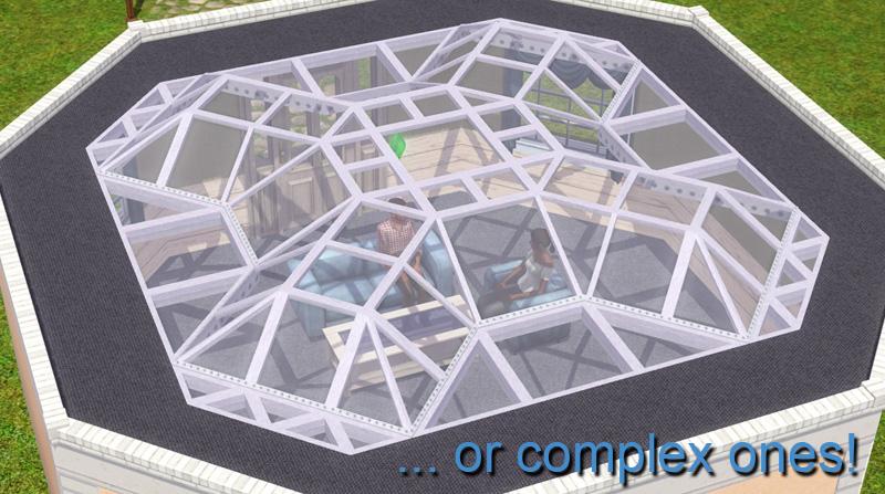 Как в симсе 4 сделать крышу