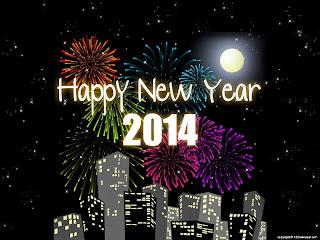Wallpaper Gambar Ucapan Selamat Tahun Baru 2014