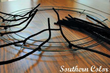 Wire Mesh Wreath Tutorial