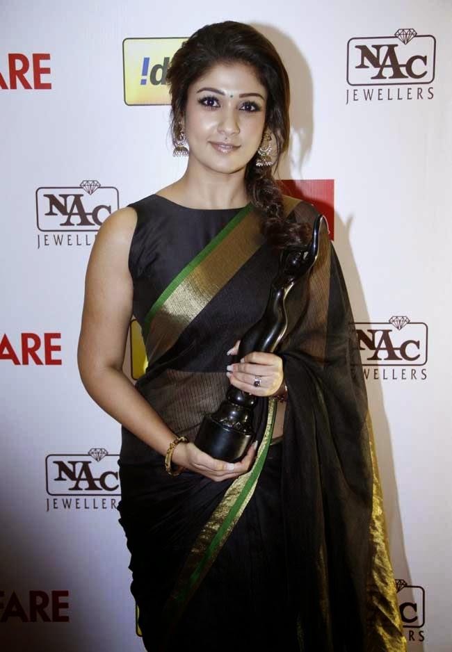 Nayantara In Sleeveless Blouse