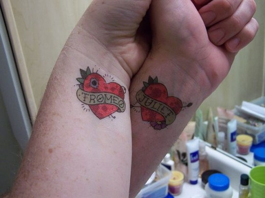 Love quotes tattoos for couples for Love tattoo designs for couples