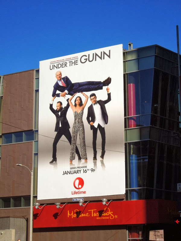 Under the Gunn series launch billboard