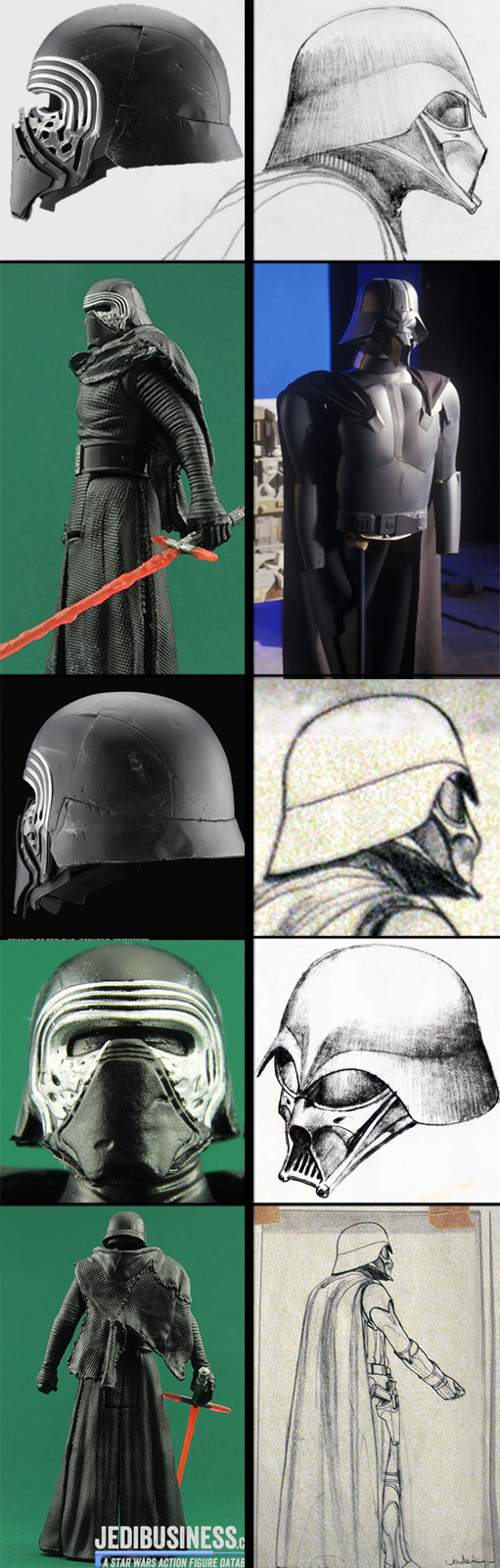 Force Awakens Kylo Ren Darth Ralph McQuarrie John Dijkstra Vader Concepts