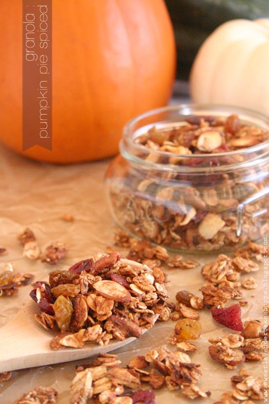 Sweet Lavender Bake Shoppe: pumpkin pie spiced granola...