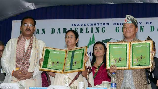 "Mamata Banerjee launched ""Clean Darjeeling Green Darjeeling"""