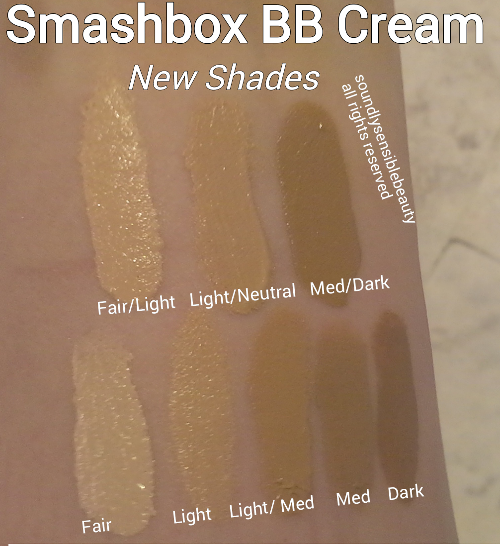 Smashbox BB Cream SPF 35 Review & Swatches of Shades